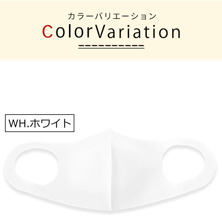 アクアドールのケア用品、秋冬用 洗える伸縮立体マスク カラーバリエーション WH.ホワイト