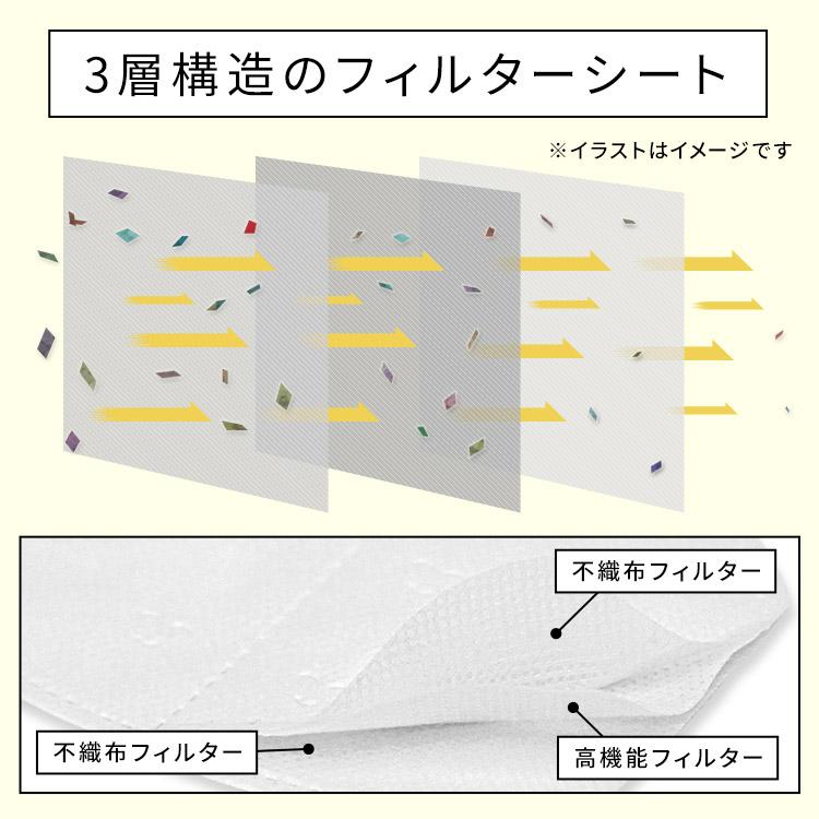 アクアドールのケア用品、マスク用使い捨てフィルターシート 3層構造のフィルターシートイメージ画像・イメージ写真