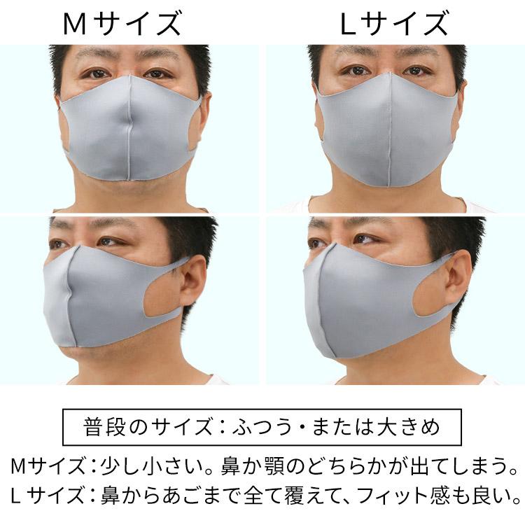 洗えるひんやり冷感伸縮立体マスク 着用レビュー 大きめ男性