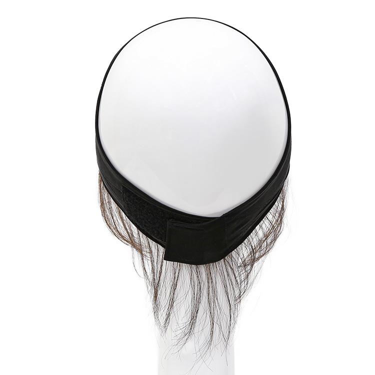 アクアドールのウィッグケア用品、人毛100%うぶ毛付き固定バンドの背面