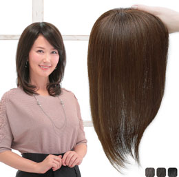 アクアドールのヘアピース・部分ウィッグ「総手植え人毛100%ヘアピース リアルスキン ロングタイプ」